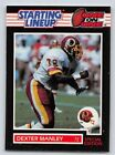 1989  DEXTER MANLEY - Kenner Starting Lineup Card  (One on One) WASHINGTON SKINS
