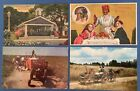 Black Americana Postcards Lot of 4 Slave Market Field Workers Nanny Cook