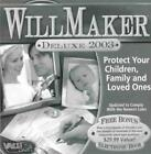 Will Maker 2003 Deluxe PC CD create living legal documents estate planning tools
