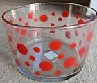 Anchor Hocking Red Polka Dot Glass 8