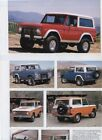 1966 1968 1970 1972 1973 1975 1977 FORD BRONCO 12 page COLOR ARTICLE