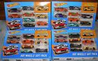2017 HOT WHEELS 9 PIECE GIFT PACKS LOT OF 4 WITH EXCLUSIVE 68 COPO CAMARO