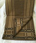 Primitive Style Woven Runner Black Tan Mustard Farmhouse 16