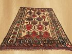 Authentic Hand Knotted Afghan Balouch Wool Area Rug 4 x 3 FT (5388)