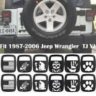 Pair Black Rear Tail light Guard Cover for 1987-2006 Jeep Wrangler TJ YJ CJ