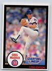 1990  GREG MADDUX - Kenner Starting Lineup Card - CHICAGO CUBS - (BLUE)