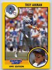 1991  TROY AIKMAN - Kenner Starting Lineup Card - DALLAS COWBOYS