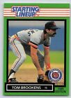 1989  TOM BROOKENS - Kenner Starting Lineup Card - DETROIT TIGERS