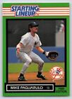 1989  MIKE PAGLIARULO - Kenner Starting Lineup Card - NEW YORK YANKEES