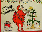 SCRAWNY Christmas TREE RETIRED LK examples ART IMPRESSIONS RUBBER STAMPS