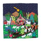 Andean Nativity Cotton Arpillera Wall Hanging Tapestry Hand Made NOVICA Peru