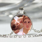 Girl Angel Tibet silver Dome Glass Cabochon Necklace chain Pendant 160