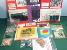 Collection of lineside accessories loco drivers phone box horse drawn cart