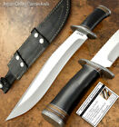 HAND MADE BY IMPACT CUTLERY RARE CUSTOM D2 TOOL STEEL BOWIE KNIFE BULL HORN