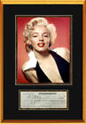Marilyn Monroe Signed Check Autograph Display, 1961 - PSA Auto 7
