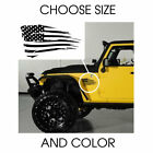 Distressed American USA Flag Decal Sticker Window for Jeep Choose Size