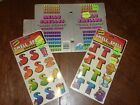 Lot of Vintage Mello Smellos Scratch n Sniff Smelly Stickers Spell T S w Book