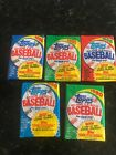 1986 1987 1988 1989 1990  Topps Baseball Cards 5 Unopened Wax Packs - Box Fresh