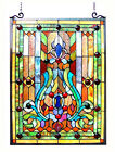 Stained Glass Vintage Victorian Design Tiffany Style Window Panel  18