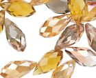 40 FALL MIX Glass Crystal Faceted Briolette 12x6mm Teardrop Beads