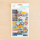 Project Life SHARP 116 CHIPBOARD STICKERS scrapbooking 380118 SILVER FOIL