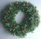 Vintage Plastic Holly  Berries Christmas Wreath 18