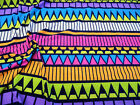 Discount Fabric Printed Spandex 4 way Stretch Aztec Blue Pink Orange Yellow A303