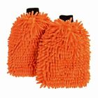 Liquid X Premium Chenille Microfiber Wash Mitt - Orange - Extra Large