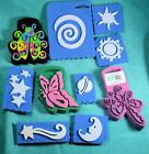 Foam Craft Stamps Lot Of 10 Butterfly Moon starts ladybug +
