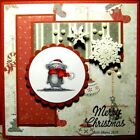 Santa Mouse RETIRED No Words LKexamples Art Impressions Rubber Stamps
