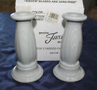 BOXED SET FIESTA WARE Gray Grey Y2K MILLENNIUM TAPERED CANDLE HOLDERs