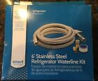Smart Choice Stainless Steel 6' Refrigerator Waterline Kit Connection NEW!