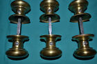 THREE SETS OF BRASS DOOR KNOBS BEAUTIFUL EAST LAKE, WITH ROSETTES