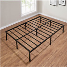 14 inch Tall Metal Platform Bed Frame Steel Slat Queen Full Twin King Size Bed