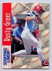 1997  RUSTY GREER - Starting Lineup Card - SLU - TEXAS RANGERS
