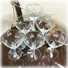 Set of 6 NOS Labels Libbey CANDLELIGHT Pattern Champagne Wine Stemware GLASSES
