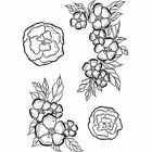 Spellbinders Stephanie Low Cling Mounted Rubber Stamps Little Flowers