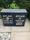 Vintage Industrial Wall Mount Tool Chest Cabinet Atlas Ignition