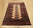 Distressed Hand Knotted Vintage Pak Jaldar Jhaldar Area Rug 4 x 3 FT (4467)