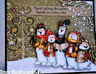 5 SNOWMEN SINGING You get photo 2 LKexamples ART IMPRESSIONS RUBBER STAMPS