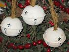 SET of 3 GRUNGY ANTIQUED LOOKING BELLS tree ornaments / bowl ORNIES  -  AP