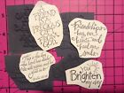 4 Unmounted Word Verse Rubber Stamps From Stampendous Friend Friendship