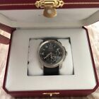 Cartier Calibre  42 mm watch alligator, steel. Rarely used!