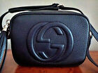 2018 AUTH GUCCI 308364 SOHO BLACK LEATHER DISCO CROSSBODY SHOULDER BAG