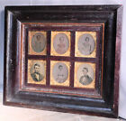 Antique Early OGEE Picture Frame 6 Ambrotype Photographs 6th plate Empire 1860
