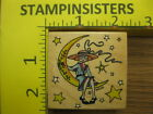ON THE MOON Engelbreit All Night Media LADY Rubber Stamp Stampinsisters 1785