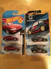 New Hot Wheels '85 Honda CR-X/'88 Honda CR-X Lot Of 4.