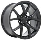 set 4 Jeep Grand Cherokee SRT Trackhawk 20x10 black wheels rims original OEM 20