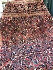 Auth: 30's Antique Sarouk Lustrous Botanical Red Wool Beauty Traditional 9x12 NR