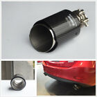 Glossy Black 54mm 89mm Real Carbon Fiber Car SUV Modified Exhaust Pipe Muffler1
